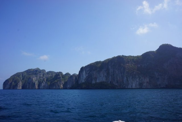 View from the ferry from Phuket to Ko Phi Phi island.