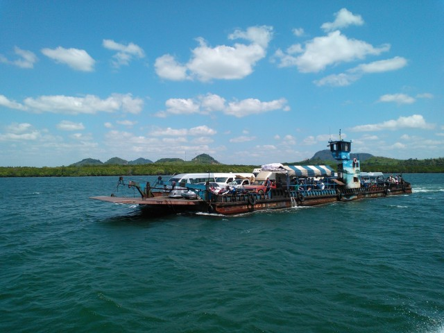 Our ferry boats (we took two) from Ko Lanta to Krabi looked like this.