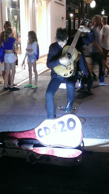 One of the street performers