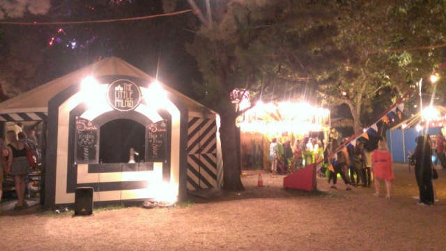 One of the Cirque acts we saw. In this tent (which seated about a hundred people) a guy did a 20 minute acrobatics show for only $5!