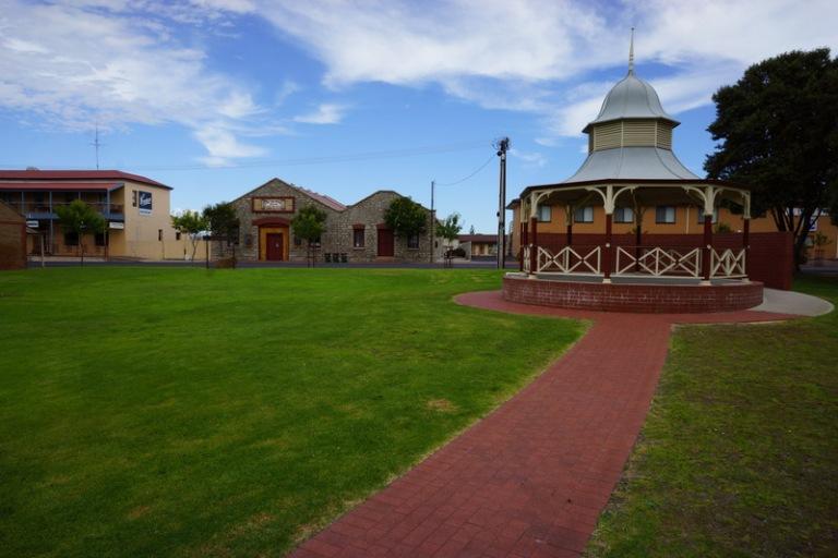 Typical beach town park