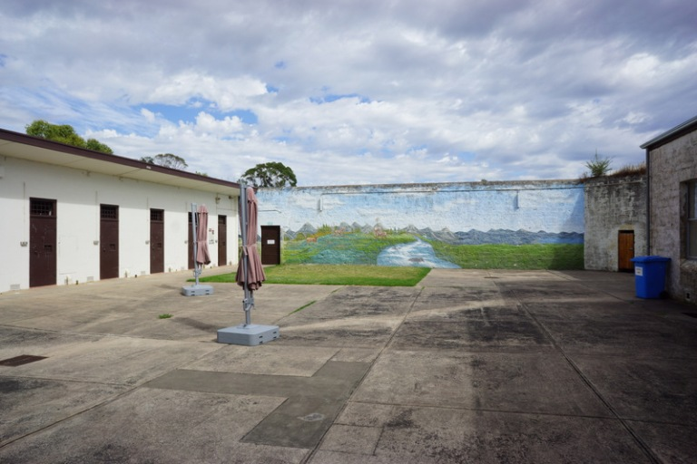 Mount Gambier Gaol. This is a courtyard that once was the exercise yard.