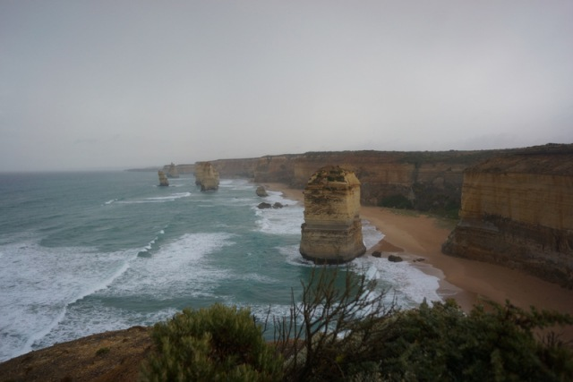 The 12 Apostles. It was rainy and cold when we arrived but they still had their mojo.