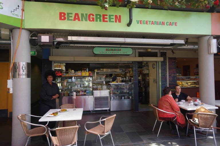 BeanGreen Cafe was a great find. The owner/cook can make almost anything vegan, including her savory pies! Very high quality food that doesn't cost much.