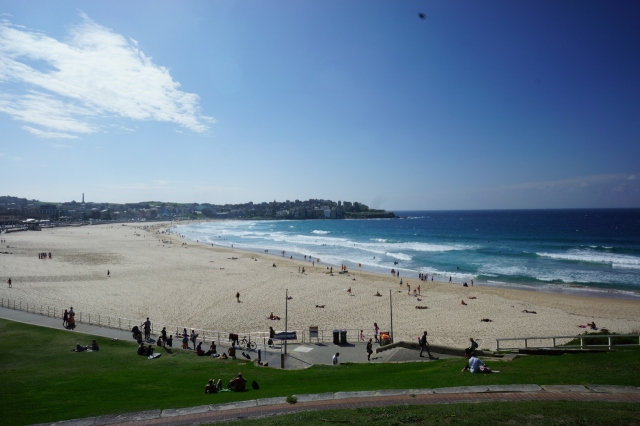 Bondi Beach in the sun! The way it was meant to be.