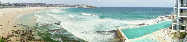 The full view of Bondi Beach.