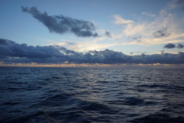Endless stretches of deep blue sea.