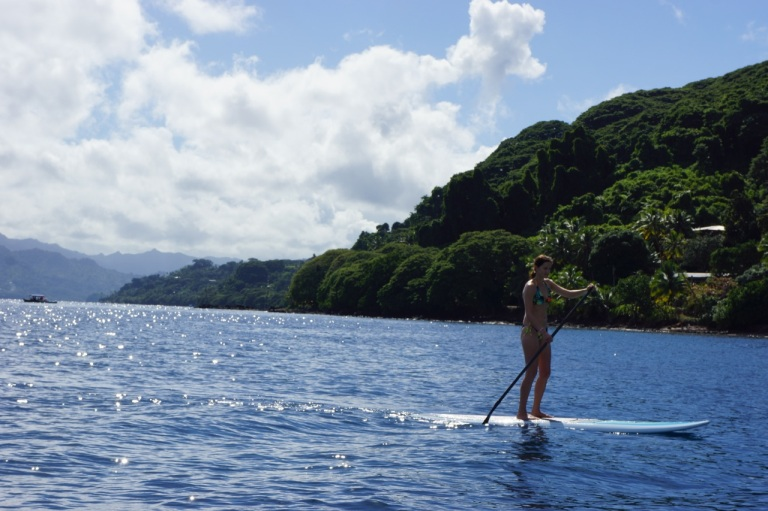 Alison got some long paddle boarding sessions in every day.