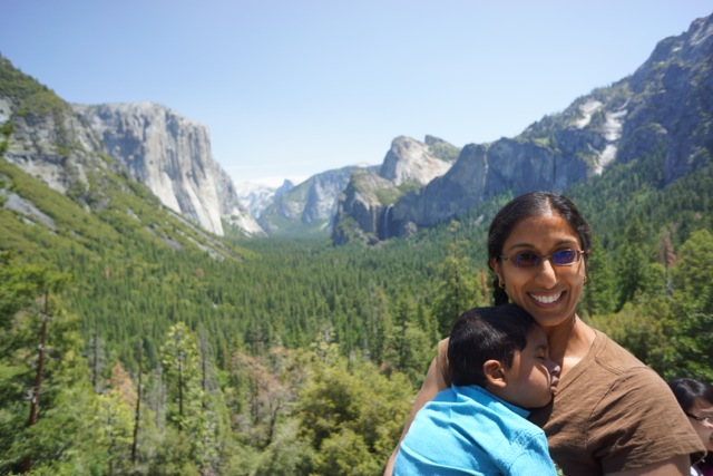 Padma and Aditya at the valley overlook.