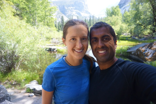 Ravi and I post-hike happy to be back in the valley.