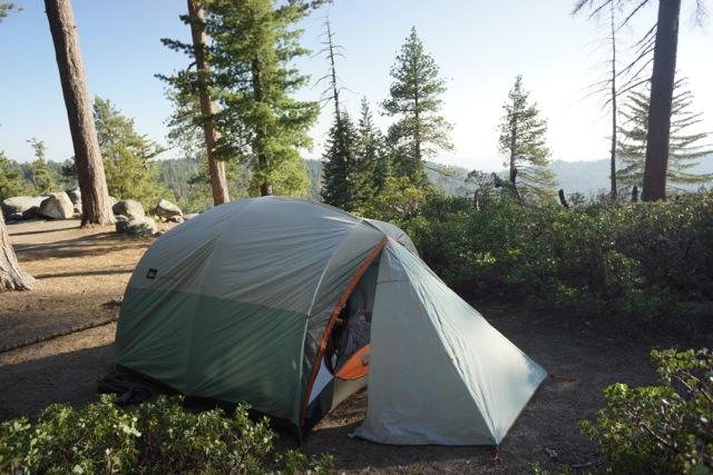 Our campsite in Kings Canyon NP, at 7500ft elevation. The days were warm and the nights were cool.