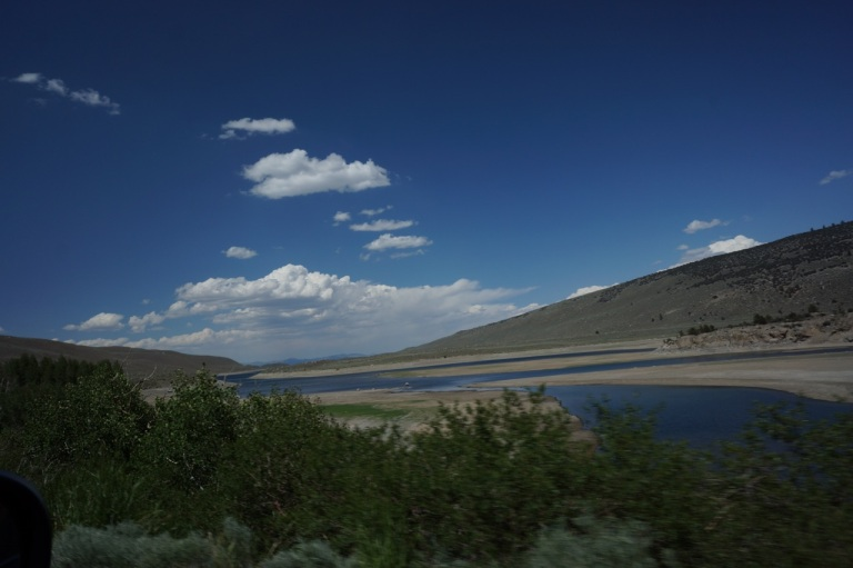 This lake is very dry, I think it was dammed, and California is also in a drought right now.