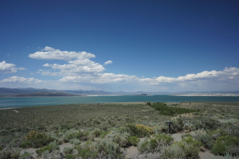 Mono Lake. Researchers come from all over the world to study the animal life in it.