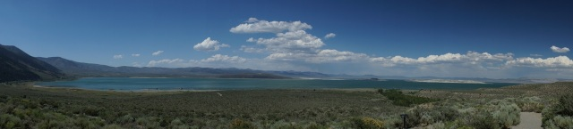 Mono Lake. One of the oldest in the world and very salty.