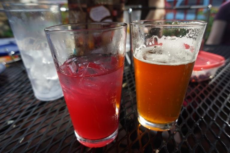 Kombucha and Beer at Mellow Mushroom downtown Ashville.