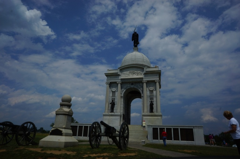 Gettysburg National War Memorial...we did a 2 hour self-guided driving tour.
