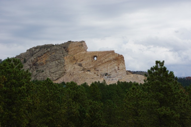 Crazy Horse is unreal! It is only partially complete and will take decades to finish...but still awesome to see. The size totally makes Mt Rushmore look small.