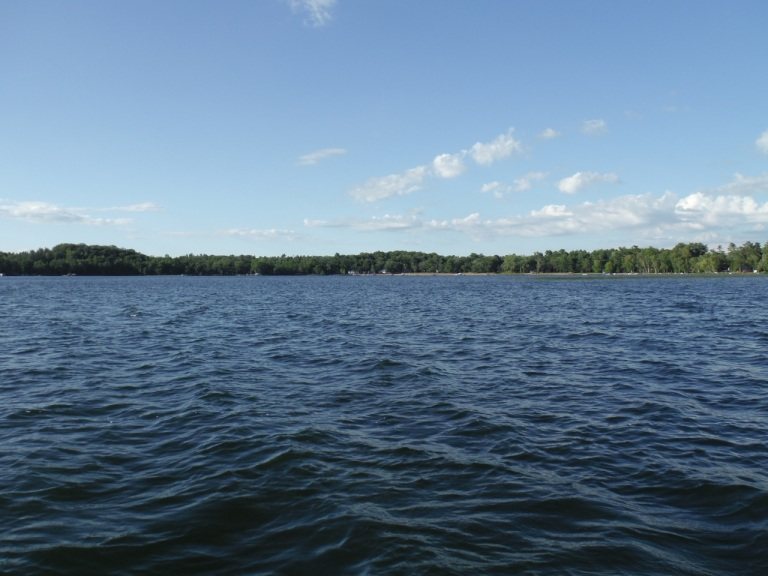 Lower Cullen Lake, Nisswa - MN. This is the view from our pontoon boat from the middle of the lake.