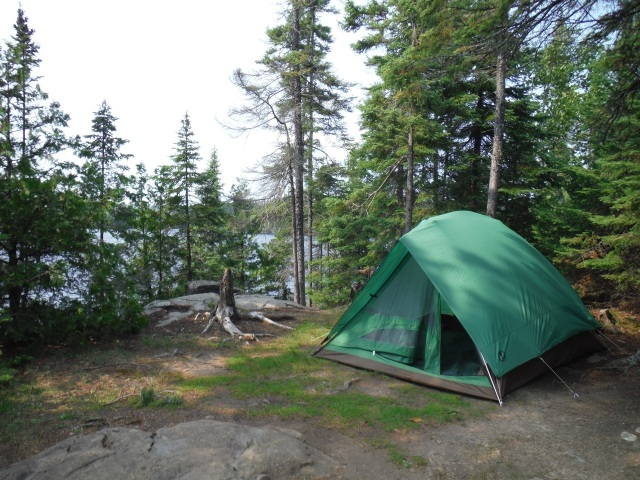 We loved this little island campsite on aptly named Long Island Lake.  We stayed here two nights and on the second morning two huge moose swam by.