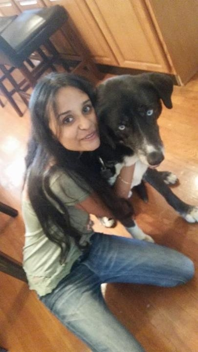 Poorvaj (my cousin) and Spike!