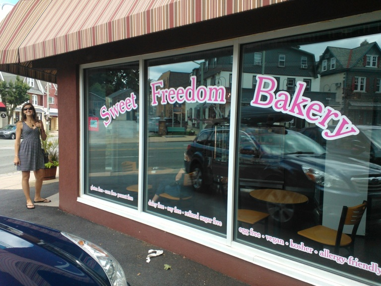 "100% vegan and 100% gluten free bakery called ""Sweet Freedom Bakery"" in Bryn Mawr!"