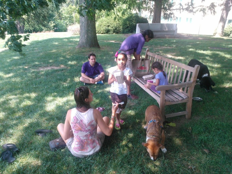 Picnic on Bryn Mawr campus.