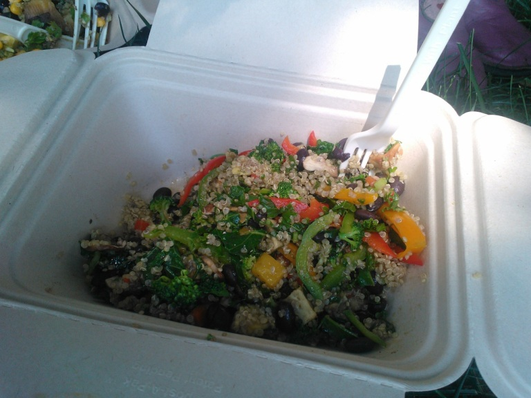 Vegan take-away from Mom's organic market in Bryn Mawr.