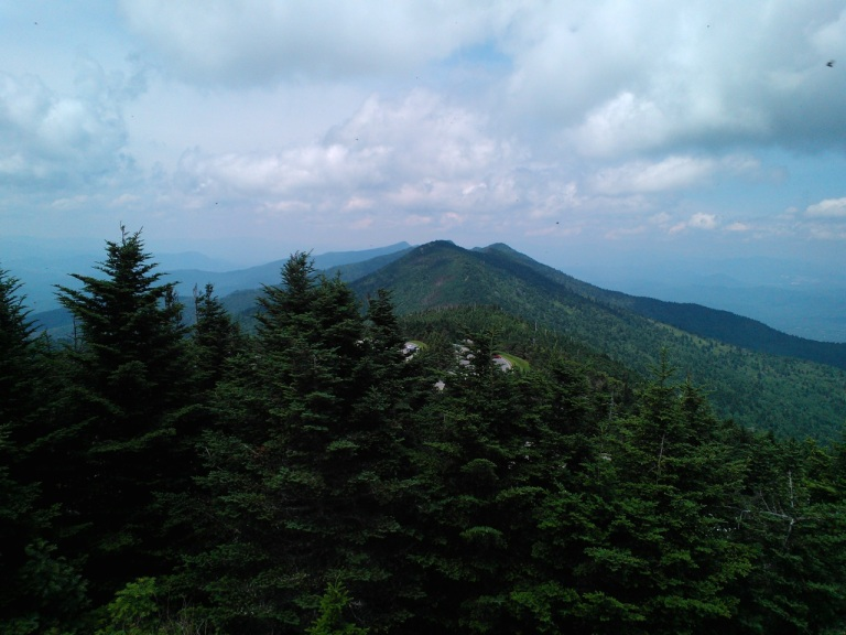 View from the top of Mt. Mitchell.