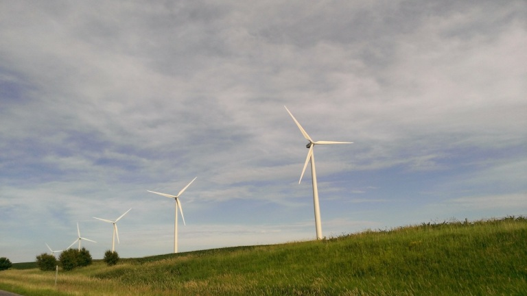 Lots of windmills in the midwest.