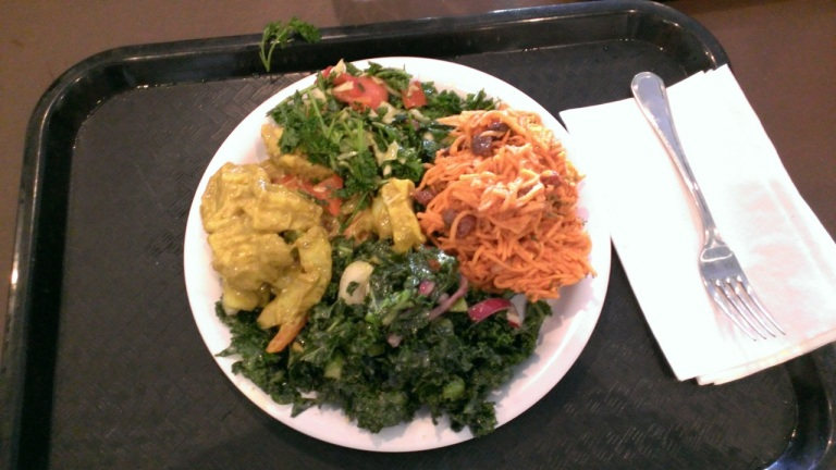 A 100% vegan diner served southern-inspired vegan food cafeteria style...so many options, so cheap and so tasty!