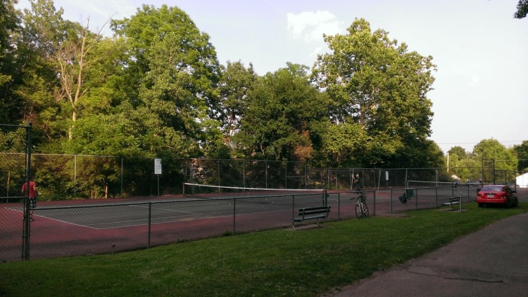 The tennis courts where I played in High School at the Waverly Glen.
