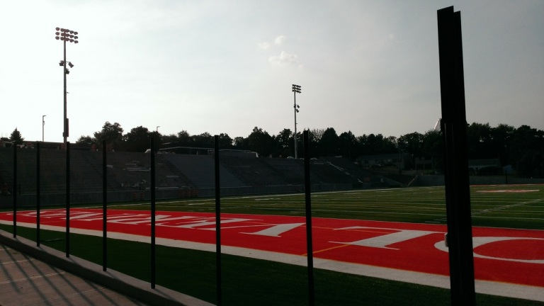 My high school football stadium..they are building a new one.