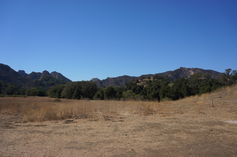 Malibu Creek State Park, our campground for several days. Hard to be believe this quit spot is just ten minutes from Malibu Beach.