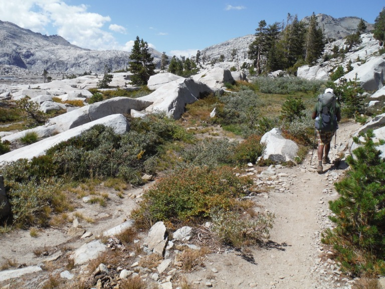 Testing our gear on a section of the PCT leading up to Aloha Lake.