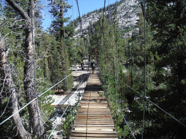 Fun suspension bridge.