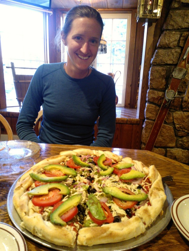 Pizza at Lake Tahoe Pizza Company.