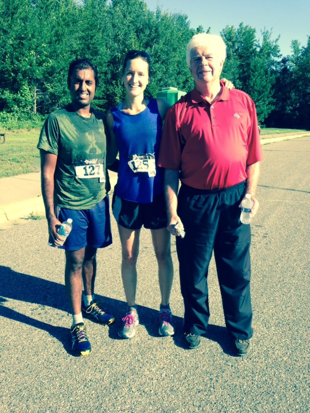 Tom rallied and got up early to cheer us on at the Plaid 5K!  Thanks Tom!!!