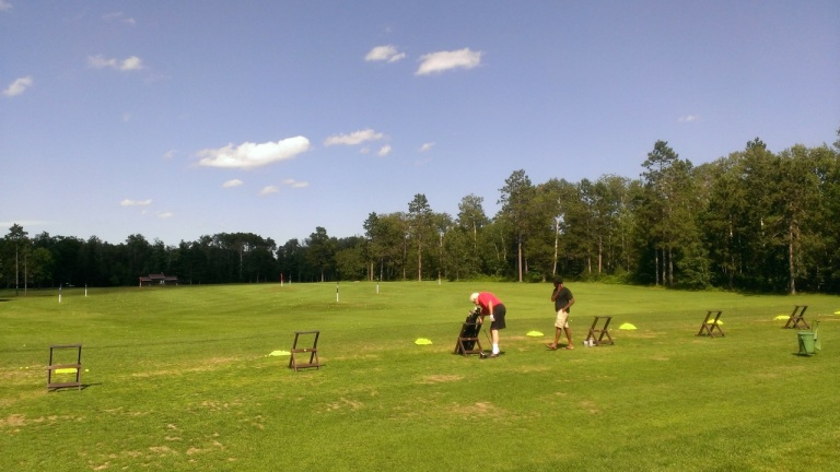 Hitting the range with Tom.  Working on our swings at Grandview Lodge in Nisswa, MN.