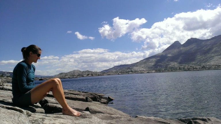 Relaxing at Aloha Lake.