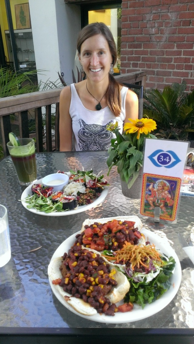 Awesome vegan food at Bliss Cafe in San Luis Obispo, just south of Santa Barbara.