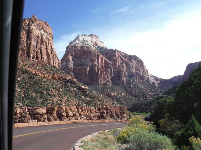 Approaching Zion...amazing colors.