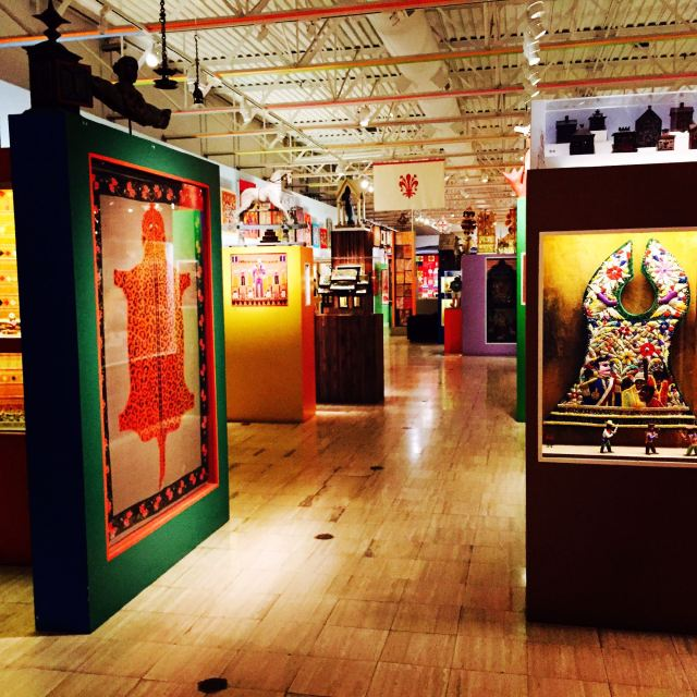 This is the gallery inside the Museum of International Folk art. This entire warehouse is PACKED with all kinds of stuff from around the world. You could spend a day in here...we chose to spend about 2 hours.