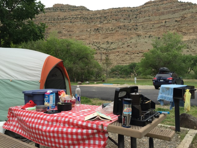 Campsite at Island Acres State Park, just a stones throw from I-70 and the Colorado River