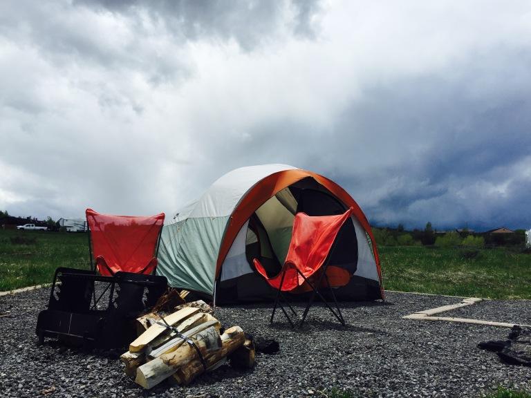 Campsite at Vega State Park.